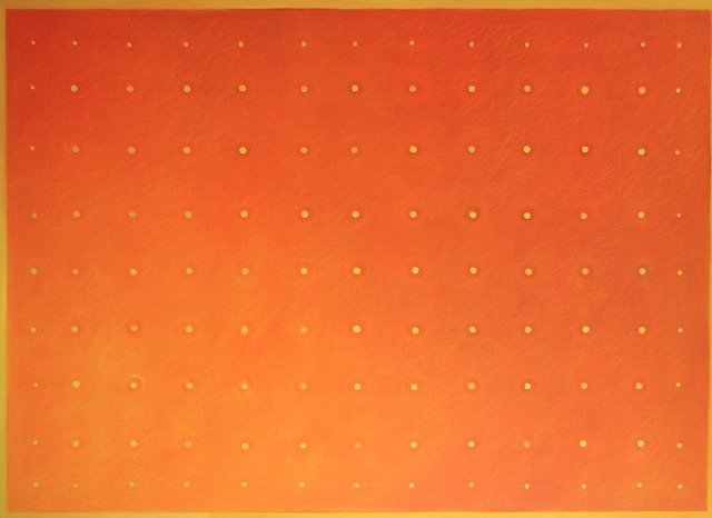 117Green&GoldDotsOnOrange58x80-2016